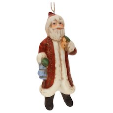 Silvestri Ceramic Old World Santa Claus Christmas Ornament