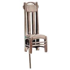 MMA Sterling 3D Arts & Crafts Chair Stickpin