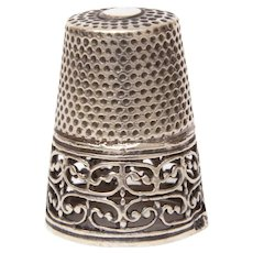 Sterling Thimble Lacy Open Work Design, 925 Silver