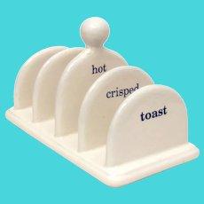 Vintage Arthur Wood Porcelain Toast Rack HOT CRISPED TOAST