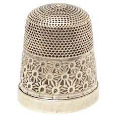 English Sterling Silver Thimble, Size 18, Classic Style