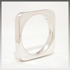 Tiffany & Co. Joachim S'Paliu Heavy Square Sterling Bangle Bracelet
