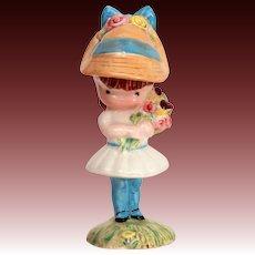 "Joan Walsh Anglund Beswick England Porcelain Figurine ""Girl with Flowers"" 1966, 1971"