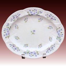 "Shelley England Blue Rock Oval Platter Dainty Shape 10.75"", Shelley Fine Bone China 13591"
