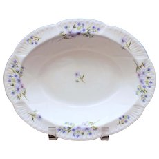 Shelley Blue Rock Dainty Shape Oval Bowl, Serving Bowl, Shelley England Fine Bone China 13591