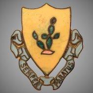 US Army 12th Armored Cavalry Regiment Semper Paratus Screw Back Pin, Distinctive Unit Insignia Screw Pin, Enamel Insignia Pin Military US DI