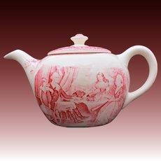 Homer Laughlin Teapot George Washinton Mount Vernon American Subject Currier & Ives, Washington and Family, Washington At Mt Vernon