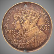 1935 King George V and Queen Mary Bronze Medal, 25th Anniversary Nottinghamshire County Council Education Committee