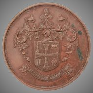 Bronze England Medal, Wolverhampton Coat of Arms, Perfect Attendance Award, Town Crest