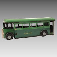 Tri-Ang Minic Toys Tin Green Line Bus English Single Decker, Dorking Route, Bisto Advertisement