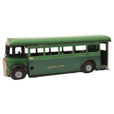Tri-Ang Minic Toys Tin Green Line Bus English Single Decker, Dorking Route, Bisto Advertisement