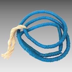 Antique African Trade Beads Blue Czech Bohemian Glass Snake Beads Interlocking