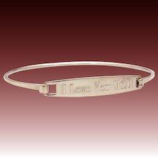 James Avery Sterling Hook On Bracelet Engraved I Love You Mom