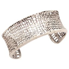 Silpada Sterling Cuff Bracelet, Woven Textile Style