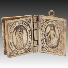 Catholic Medal Charm, My Companion Book, St Joseph, Sacred Heart of Jesus, Our Lady of Mount Carmel, Miraculous Medal