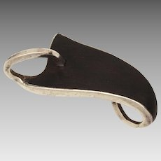 Julian Goodenow Mid-Century Modern Sterling & Ebony Leaf Pin