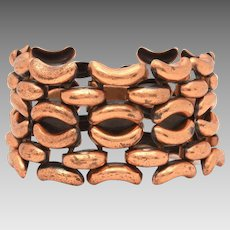 Renoir Copper Mid-Century Modernist Flexible Bracelet