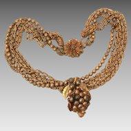 Amourelle Necklace Designed by Frank Hess for Kramer, Signed Heart