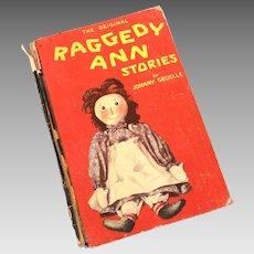 1918 Original Raggedy Ann Stories by Johnny Gruelle, Volland Hardback Book
