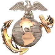 USMC Marine Corps Sterling Gold Filled EGA Pin Badge by H&H Hilborn Hamburger