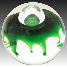 1976 Caithness Spectre Paperweight by Colin Terris, Limited Edition 30/1000