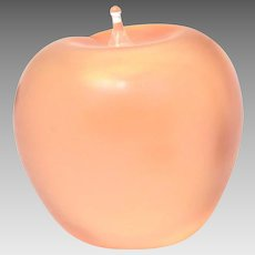 Orient & Flume Glass Apple Paperweight in Peach with Iridescence