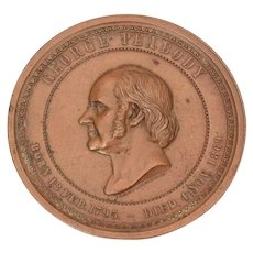 Bronze George Foster Peabody Education Medal dated 1895