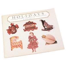 1983 Holidays Book by Nada Gray, Victorian Women Celebrate in Pennsylvania, Large Paperback