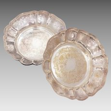 Barker Ellis 2 Silverplate Bowls, Menorah Hallmark, Ellis Barker England Silverplated Dishes