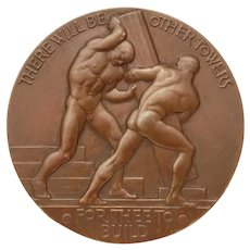 1940 Bronze Medal Walker Hancock There Will Be Other Towers, Medallic Art Co. NY:Prize Winning Medal