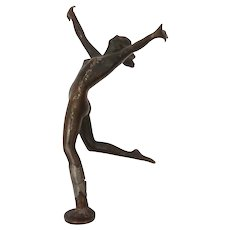 Josef Lorenzl Art Deco Nude Bronze Sculpture DAMAGED