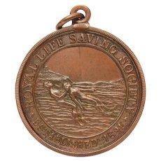 Royal Life Saving Society 1931 Bronze Medal, Saved Drowning Victim, English Life Guard Award