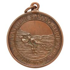 Royal Life Saving Society 1931 Bronze Medal, Saved Drowning Victim, English Life Guard Award