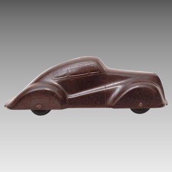 "1940s Black Bakelite Toy Car, 6 1/4"""