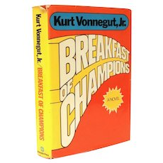 Breakfast of Champions 1973 First Edition, 1st Printing, Kurt Vonnegut, Jr. Hardback Book with Dust Jacket