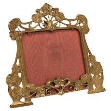 Gorham Brass Art Nouveau Design Picture Frame, Signed