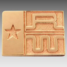 James Avery Gold Filled Pin Texas Federation Of Republican Women