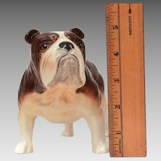 "Large Ceramic Bulldog Figurine 8.5"" from Nose to Tail"