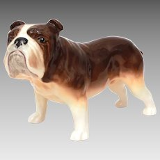 """Large Ceramic Bulldog Figurine 8.5"""" from Nose to Tail"""
