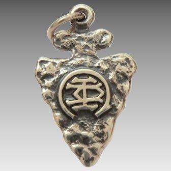 James Avery Camp Arrowhead Sterling Bracelet Charm