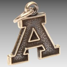 James Avery Sterling Initial A Charm, Varsity Letter