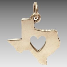 Sterling James Avery Deep in the Heart of Texas Bracelet Charm