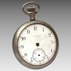 1923 Elgin National Watch Co Pocket Watch, For Parts & Repair, Does Not Run