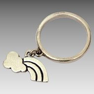 James Avery Sterling Rainbow Charm Dangle Ring, Size 4 1/2