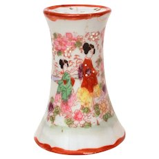 Hatpin Holder Japanese Geisha, Japan Porcelain