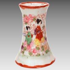 Hatpin Holder Japanese Geisha, Japan Porcelain