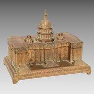 Antique Capitol Building Washington DC Pot Metal Box by Jennings Bros.
