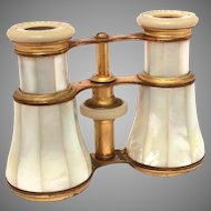 Antique French Mother of Pearl Opera Glasses Lamaire Paris France, Binocular Style