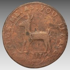 Becker 1737 Higley or Granberry Copper Repro Coin, Peter Rosa Replica