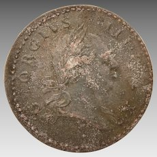 Becker Repro Coin, 1773 Virginia Halfpenny, Peter Rosa Replica